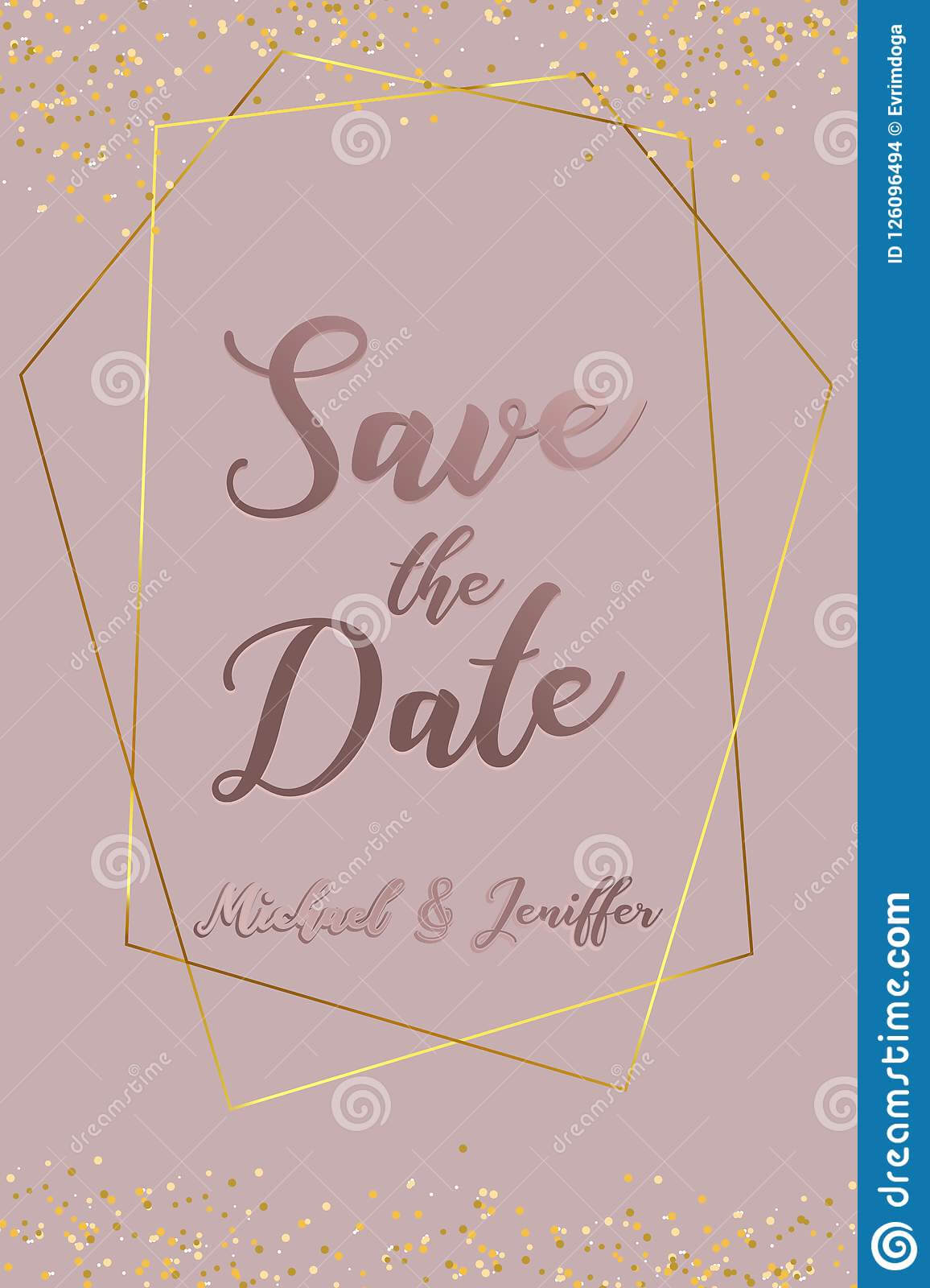 Wedding Invitation, Thank You Card, Save The Date Card Throughout Save The Date Banner Template