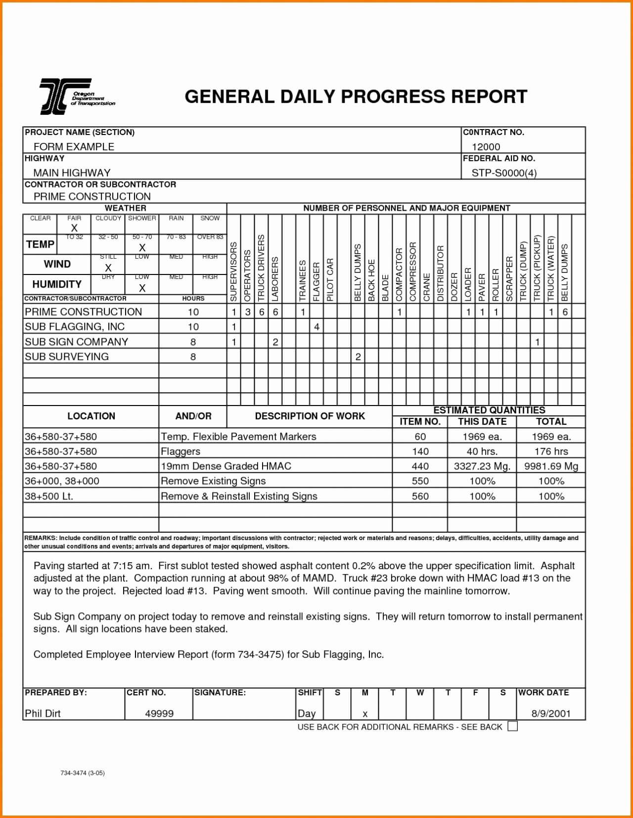 Weekly Construction Progress Report Template | Cialis Within Section 37 Report Template