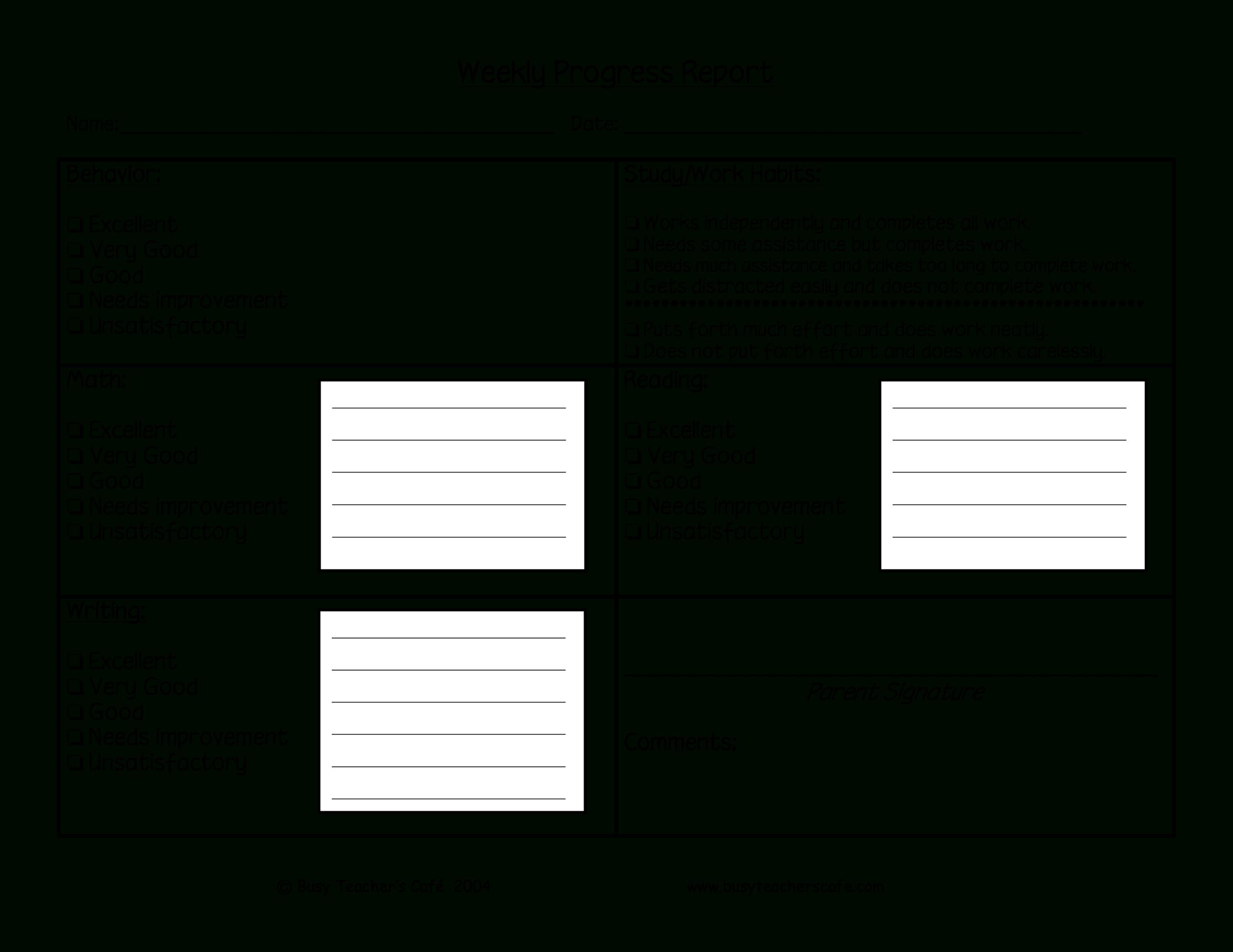 Weekly Student Behavior Report | Templates At Regarding Behaviour Report Template