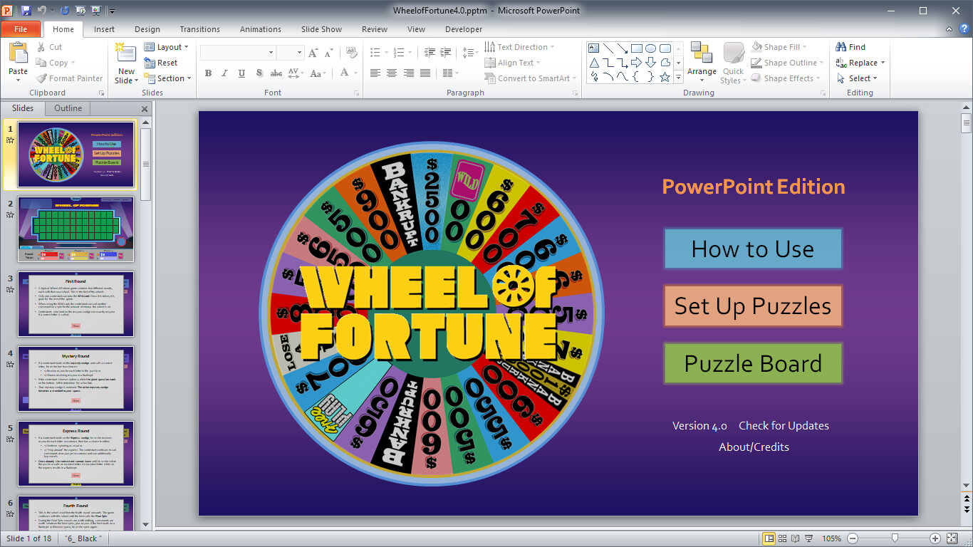 Wheel Of Fortune For Powerpoint - Gamestim Throughout Wheel Of Fortune Powerpoint Game Show Templates