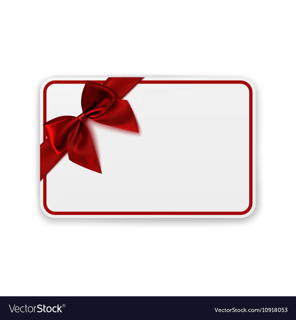 White Blank Gift Card Template Within Present Card Template