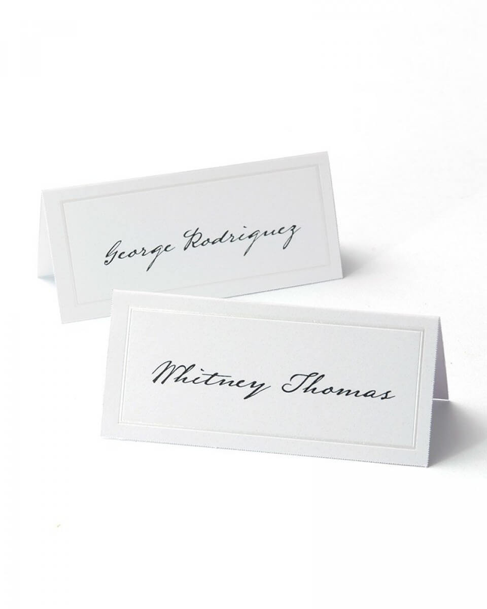 White Pearl Border Printable Place Cards Regarding Gartner Studios Place Cards Template