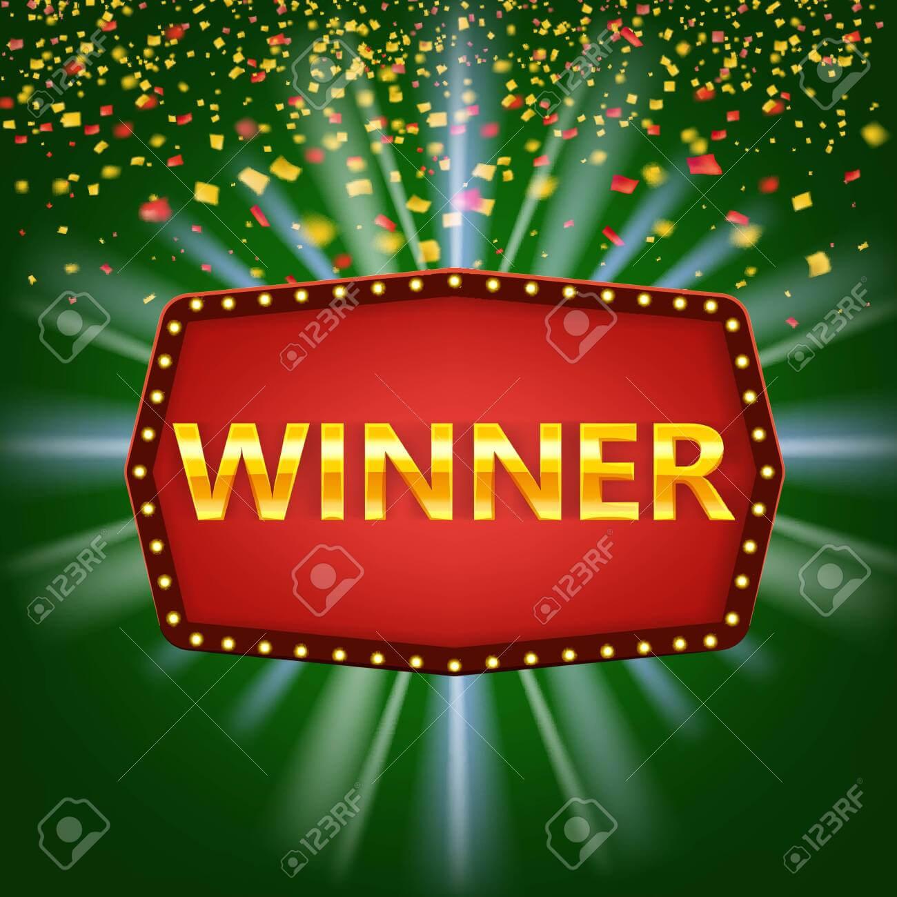 Winner Frame Label Banner Template. Win Congratulations Vintage.. Within Congratulations Banner Template