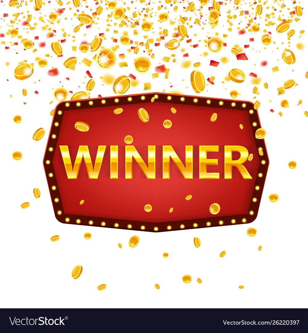 Winner Frame Label Banner Template Win For Congratulations Banner Template