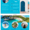 World Travel Tri Fold Brochure within Island Brochure Template