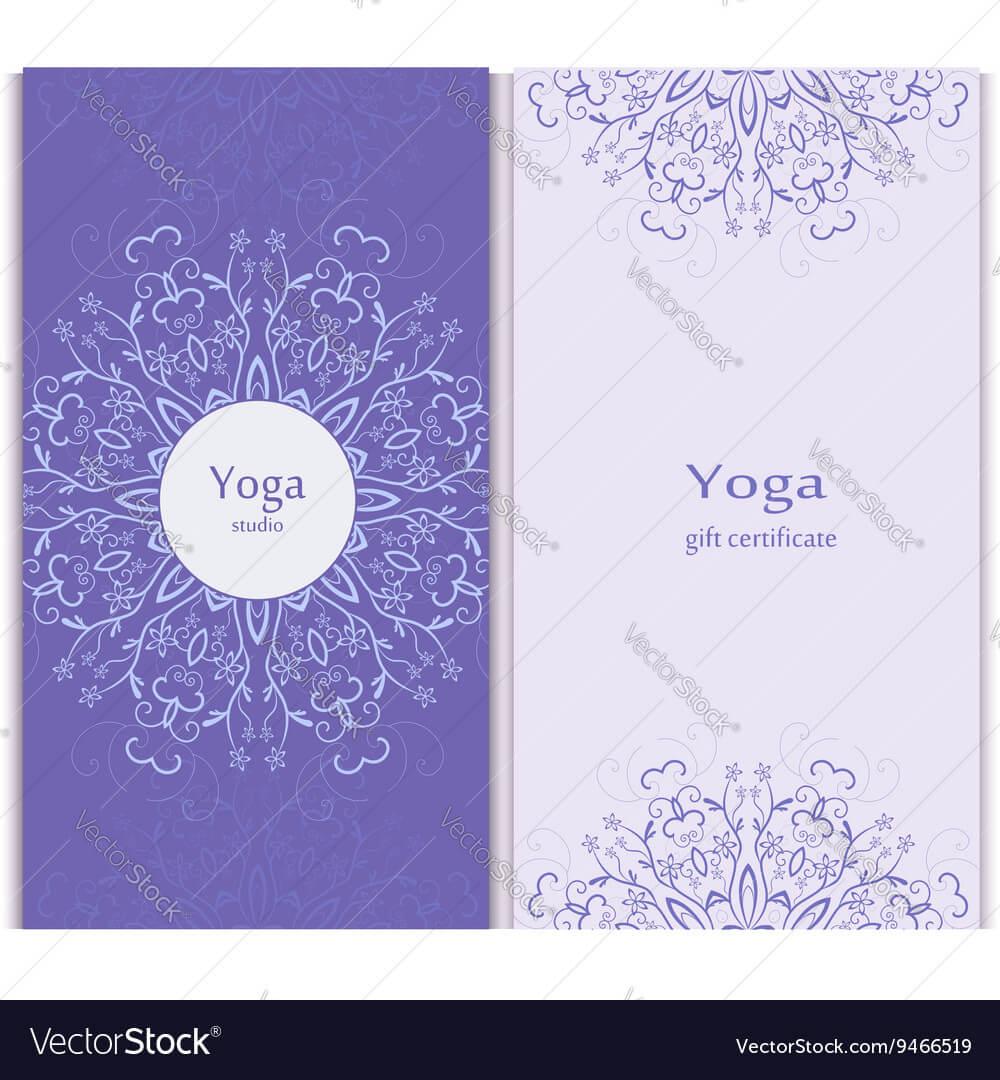Yoga Gift Certificate Template Regarding Yoga Gift Certificate Template Free