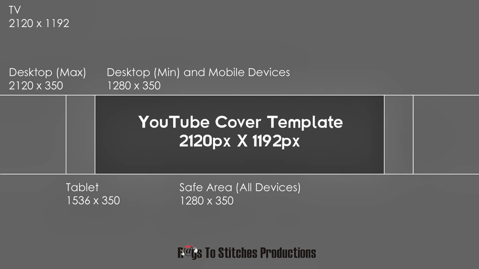 Youtube Banner Template Size With Youtube Banner Template Size