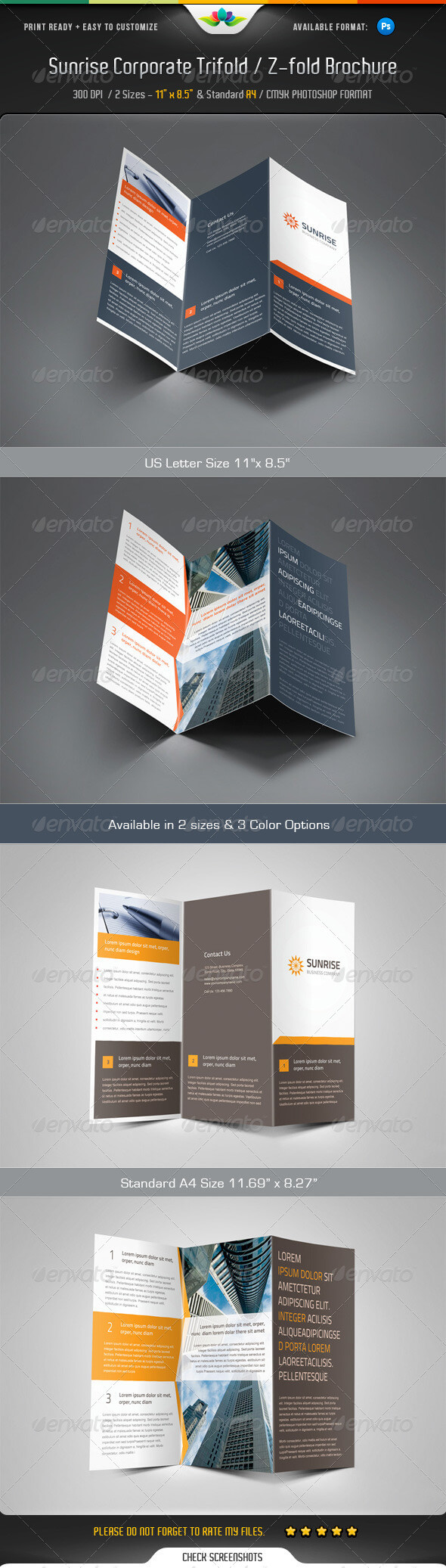 Z Fold Brochure Templates From Graphicriver Intended For Z Fold Brochure Template Indesign