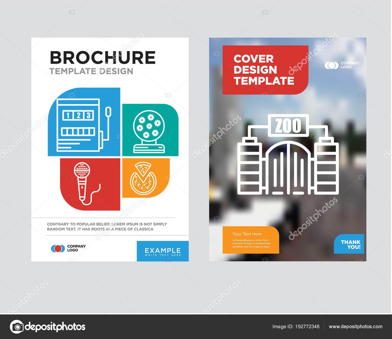 Zoo Brochure Flyer Design Template — Stock Vector Pertaining To Zoo Brochure Template